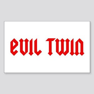 Evil Twin Rectangle Sticker