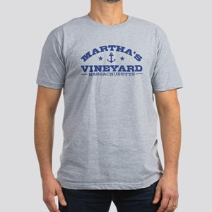 Martha's Vineyard Men's Fitted T-Shirt (dark)