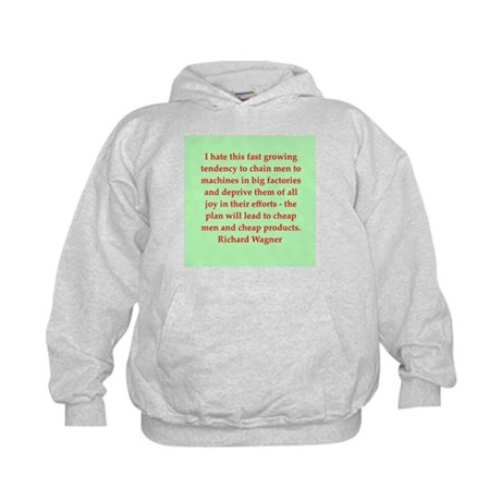 Richard wagner quotes Kids Hoodie