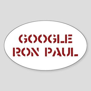 Google Ron Paul Sticker (Oval)