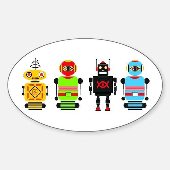 Unique Robot Sticker (Oval)