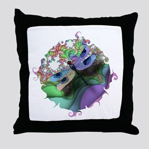 Dragonfly Swirl Throw Pillow