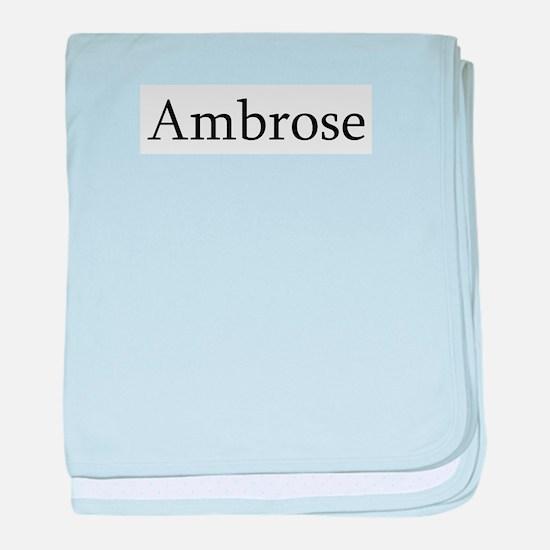 Ambrose baby blanket