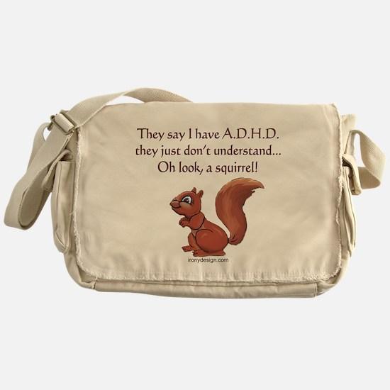 ADHD Squirrel Messenger Bag