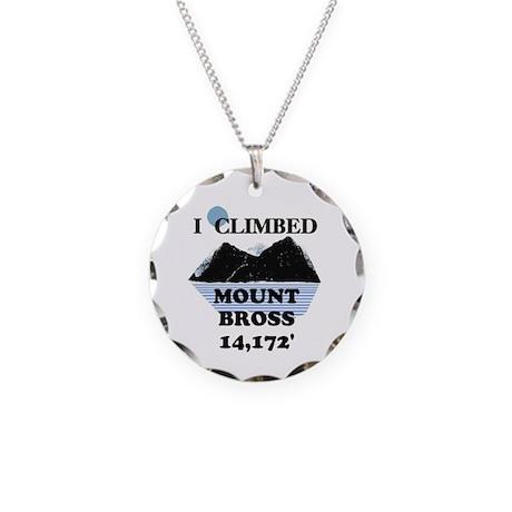I Climbed Mount Bross Necklace Circle Charm