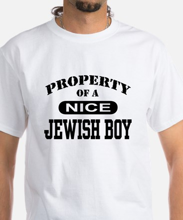 Property of a Nice Jewish Boy White T-Shirt