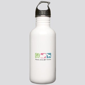 Peace, Love, Bull Terriers Stainless Water Bottle