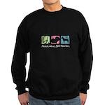 Peace, Love, Bull Terriers Sweatshirt (dark)
