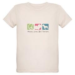 Peace, Love, Bull Terriers T-Shirt