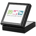 Peace, Love, Bull Terriers Keepsake Box