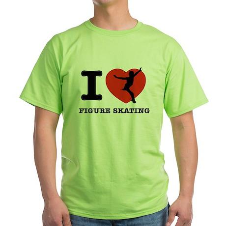 I love Figure skating Green T-Shirt