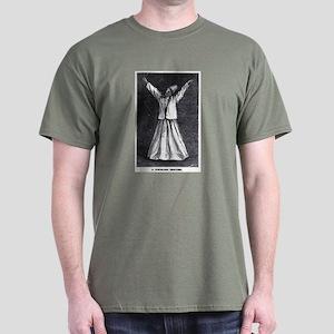 Whirling Sufi Dervish Dark T-Shirt