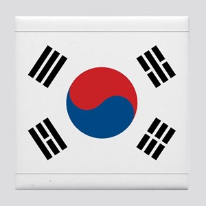 South Korean Flag Tile Coaster