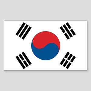 South Korean Flag Rectangle Sticker