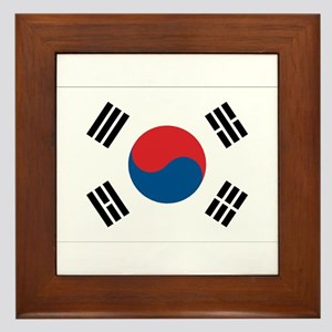 South Korean Flag Framed Tile