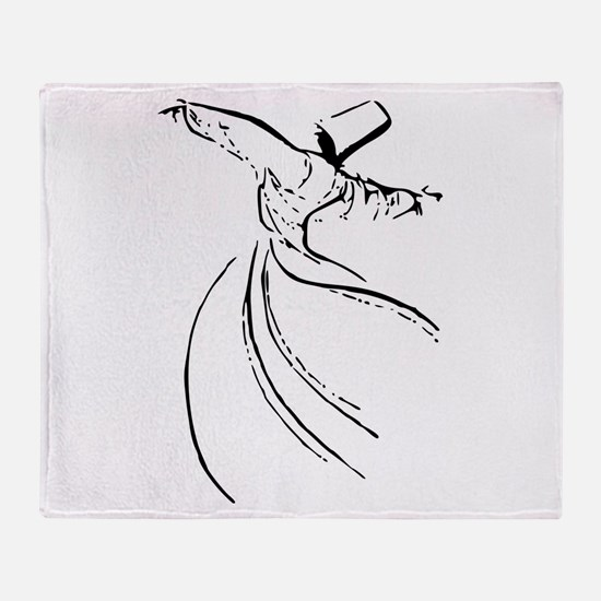 Whirling Sufi Dervish Throw Blanket