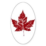 Cool Canada Sticker (Oval 50 pk)
