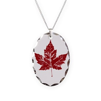 Cool Canada Necklace Oval Charm