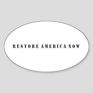 Restore America Now Sticker (Oval)