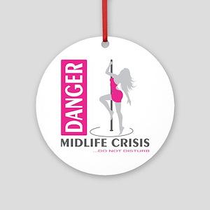 Midlife Crisis Round Ornament