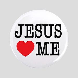 "I Love Jesus 3.5"" Button"