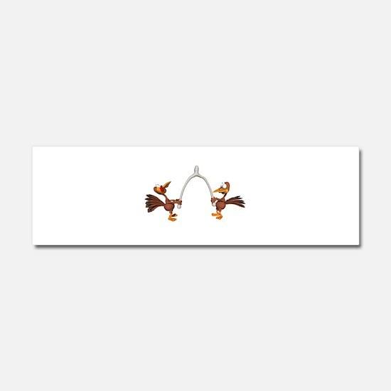Turkeys Making Wish (Wishbone Car Magnet 10 x 3
