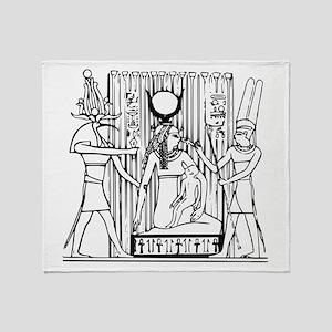 Tehuti, Ast/Isis, Amen-Ra Throw Blanket