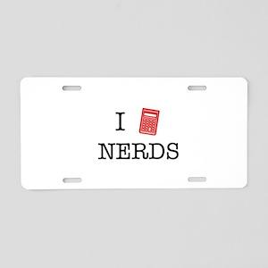 I Calculator Nerds Aluminum License Plate