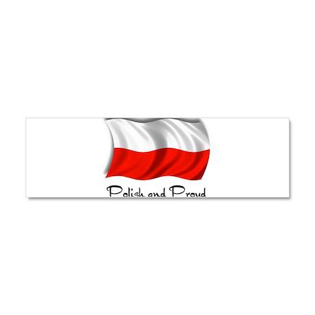 Polish and Proud Car Magnet 10 x 3