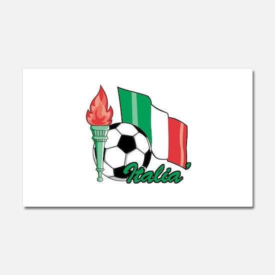 Italian Soccer Pride Car Magnet 20 x 12