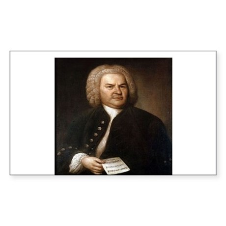 bach quotes Sticker (Rectangle)