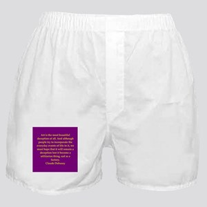 Debussy quote Boxer Shorts