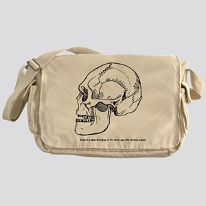 Stone Age Skull Messenger Bag