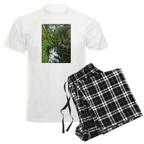 Peaceful Forest Stream Men's Light Pajamas