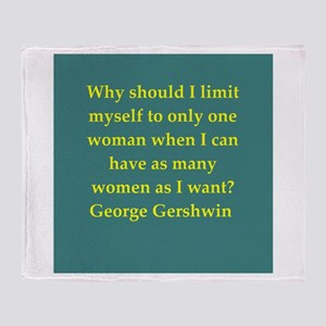 George Gershwin quotes Throw Blanket