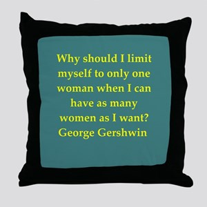 George Gershwin quotes Throw Pillow