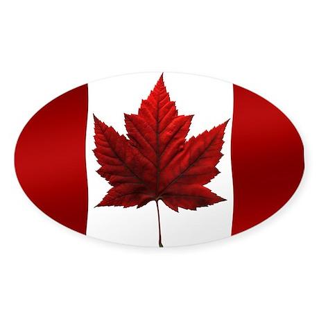 Canada Flag Sticker Oval Canada Souvenir Sticker