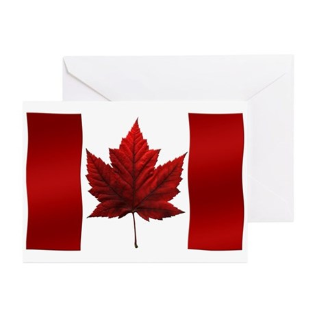 Canada Flag Greeting Cards Pk Of 10 Canada Cards