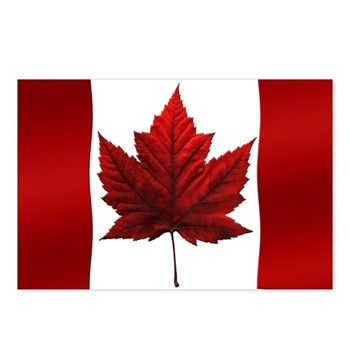 Canada Flag 8 Pk Souvenir Postcards (package Of 8)