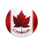 "Canada Flag Big Buttons 100 3.5"" Button (100"
