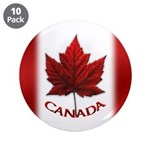 "Canada Flag Big Buttons 10 3.5"" Button (10 Pa"