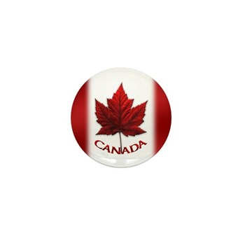 Canada Flag Souvenir 100 Mini Button (100 Pack)