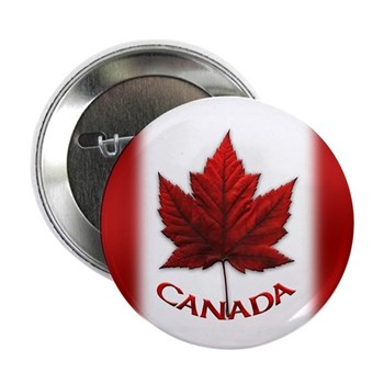 """Canada Flag Buttons 2.25"""" Button (10 Pack)"""