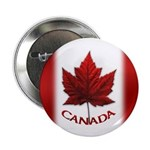 "Canada Flag Buttons Canadian 2.25"" Button"