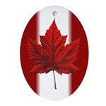 Canada Flag Ornament (Oval)