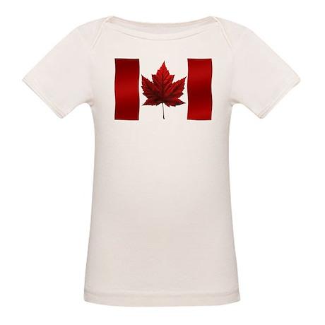 Canada Flag Organic Baby T-Shirt Canada Souvenirs