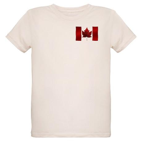 Canada Flag Organic Kids T-Shirt Canada Souvenir