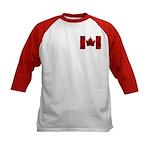 Canada Flag Kids Baseball Jersey Shirt Canada Tops