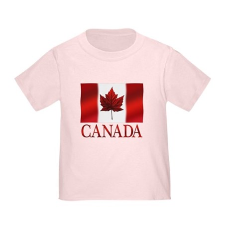 Canada Flag Toddler T-Shirt Canada Baby Shirt