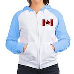 Canada Flag Hoodie Women's Canadian Souvenir